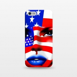 iPhone 5/5E/5s  Usa Flag on Beatiful Girl's Face by BluedarkArt