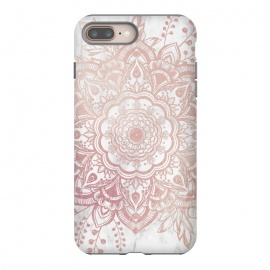 iPhone 8/7 plus  Queen Starring of Mandala-White Marble by ''CVogiatzi.