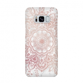 Galaxy S8  Queen Starring of Mandala-White Marble by ''CVogiatzi.