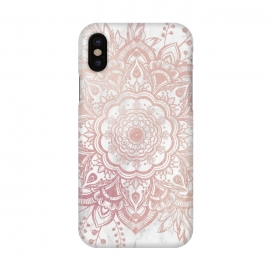 iPhone X  Queen Starring of Mandala-White Marble by ''CVogiatzi.
