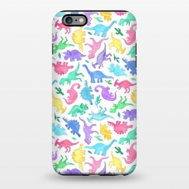 iPhone 6/6s plus  Ditsy Dinos in Bright Pastels on White by Micklyn Le Feuvre