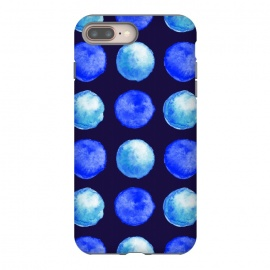 iPhone 8/7 plus  Winter Blue Watercolor Large Dots Pattern by Boriana Giormova