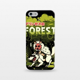 iPhone 5/5E/5s  The Forest Princess by Ilustrata (wolf, anime, forest, plant, flower, mononoke, Hime, princess, princesa)