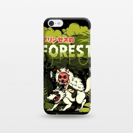 iPhone 5C  The Forest Princess by Ilustrata (wolf, anime, forest, plant, flower, mononoke, Hime, princess, princesa)