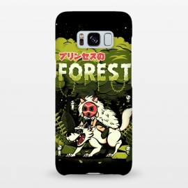 Galaxy S8+  The Forest Princess by Ilustrata (wolf, anime, forest, plant, flower, mononoke, Hime, princess, princesa)
