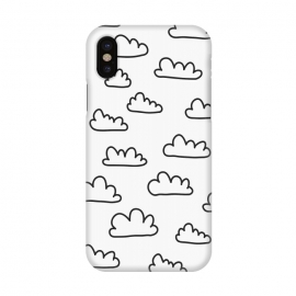 iPhone X  Scandinavian Clouds Black by ArtPrInk