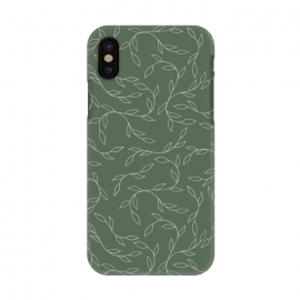 iPhone X  Green Climbing Leaves by