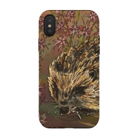 iPhone Xs / X  Sweet Hedgehog by Lotti Brown (hedgehog,nature,countryside,animal,animals)