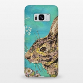 Galaxy S8+  Rabbit and Daisies by Lotti Brown