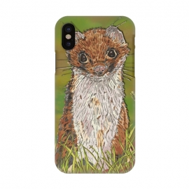 iPhone X  Summer Stoat by Lotti Brown
