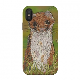 iPhone Xs / X  Summer Stoat by Lotti Brown (stoat,weasel,nature,animal,animals,countryside)