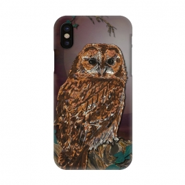iPhone X  Tawny Owl - Mistress of the Night by Lotti Brown