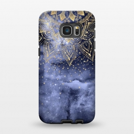 Galaxy S7 EDGE  whimsical gold mandala confetti design by InovArts
