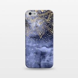 iPhone 5/5E/5s  whimsical gold mandala confetti design by InovArts
