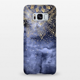 Galaxy S8+  whimsical gold mandala confetti design by InovArts