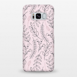 Galaxy S8+  Pink Leaves & Flowers by ArtPrInk