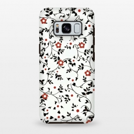 Galaxy S8+  Read & white flowers by Jms