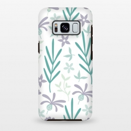 Galaxy S8+  Beautiful Garden Purple & Turquoise by ArtPrInk