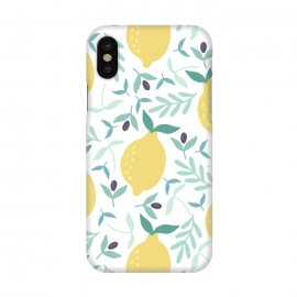 iPhone X  Lemon & Blueberry Pastel by ArtPrInk