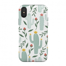 iPhone Xs / X  Mint Cactus Garden  by