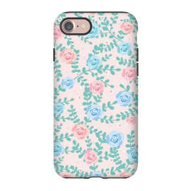 iPhone 8/7  Pink blue roses by Jms