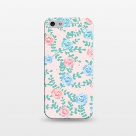 iPhone 5/5E/5s  Pink blue roses by Jms