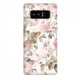 Galaxy Note 8  Pastel Vintage Roses by