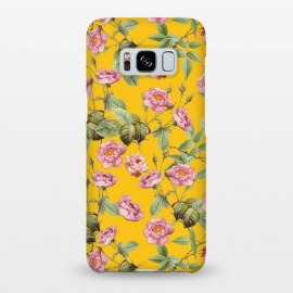 Galaxy S8+  Pink Roses on Yellow by Utart