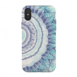 iPhone Xs / X  Be You by Rose Halsey (mandala,floral,flowers,teal,blue,hippie,boho,pretty,zen)