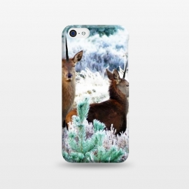 iPhone 5C  Unicorn Deer by Uma Prabhakar Gokhale (digital manipulation, paint effect, paint filter, deer, animal, nature, landscape, forest, trees, green, icy, wildlife)