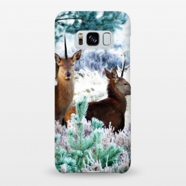 Unicorn Deer by Uma Prabhakar Gokhale (digital manipulation, paint effect, paint filter, deer, animal, nature, landscape, forest, trees, green, icy, wildlife)