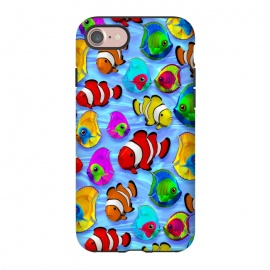 iPhone 8/7  Tropical Colorful Fish Pattern by BluedarkArt