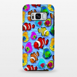 Galaxy S8+  Tropical Colorful Fish Pattern by BluedarkArt