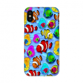 iPhone X  Tropical Colorful Fish Pattern by BluedarkArt