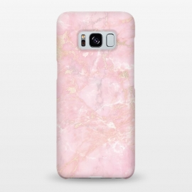 Galaxy S8+  Delicate Rose Gold Metal on Light Pink Marble by Utart