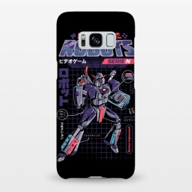 Galaxy S8+  Video Game Robot - Model N by Ilustrata (Robot, techno, robots, android, retro, 80's, videogame, game, games, play, 90's, futurism, mecha, technologie, gamer)