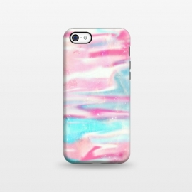 iPhone 5C  Pink blue abstract paint by Jms