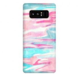 Galaxy Note 8  Pink blue abstract paint by Jms