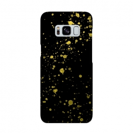 Gold and Black Splatter by Ashley Camille (confetti,gold,splatter,paint)