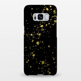 Galaxy S8+  Gold and Black Splatter by Ashley Camille (confetti,gold,splatter,paint)