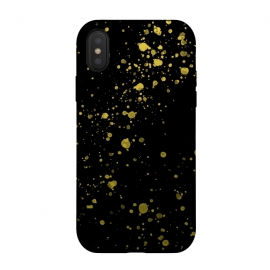 Gold and Black Splatter by Ashley Camille