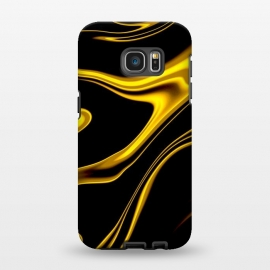 Galaxy S7 EDGE  Black and Gold by Ashley Camille (wavy,gold)