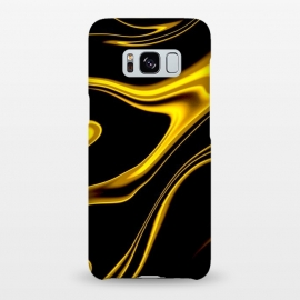Galaxy S8+  Black and Gold by Ashley Camille (wavy,gold)