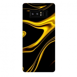 Galaxy Note 8  Black and Gold by Ashley Camille (wavy,gold)