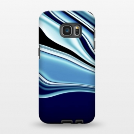 Galaxy S7 EDGE  Black and Blue by Ashley Camille (wavy)