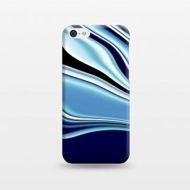 iPhone 5C  Black and Blue by Ashley Camille (wavy)
