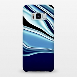 Galaxy S8+  Black and Blue by Ashley Camille (wavy)