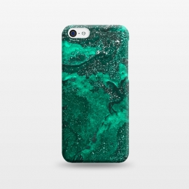 iPhone 5C  Green Glitter by Ashley Camille (glitter,green,paint,painted,painting)