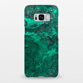 Galaxy S8+  Green Glitter by Ashley Camille (glitter,green,paint,painted,painting)
