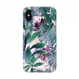 iPhone X  Tropical Emerald Jungle by Micklyn Le Feuvre